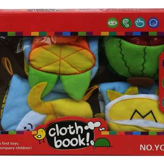 Mainan Bayi CLOTH BOOK VEGGIE (ISI 4)