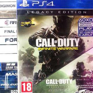 [NEW NOT USED] 2 IN 1 PS4 Call of Duty Infinite Warfare Legacy COD Games Activision Action