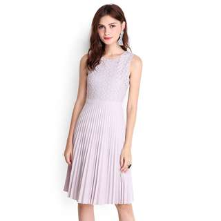 LilyPirates Pleated Dress in Lilac Grey