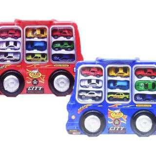 Mainan Mobil Mobilan 9 IN 1 DIE CAST CAR