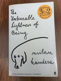 Book - Incredible Lightness of Being by Milan Kundera