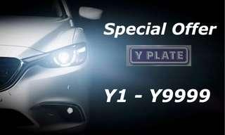 Malaysia Car Plate Y1 - Y9999
