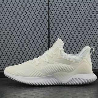 "adidas AlphaBOUNCE Beyond 慢跑鞋""全白""CP8825"