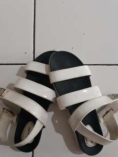 Simply white sandals