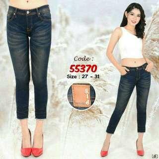 Celana Jeans/Denim Black Hitam
