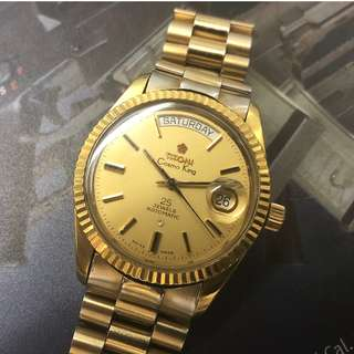Titoni Cosmos King Day Date Vintage Watch