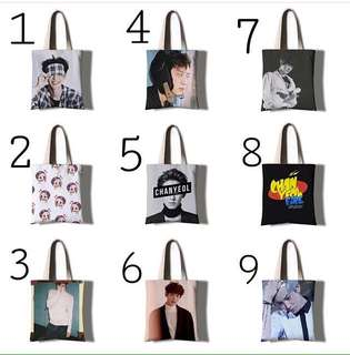 EXO CHANYEOL CANVAS TOTE BAG
