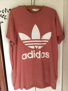 🚚 Adidas Originals Oversized Trefoil Tee乾燥玫瑰粉T