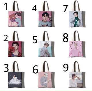 EXO SEHUN CANVAS TOTE BAG