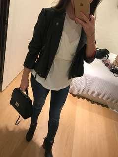 DKNY Leather Black Jacket