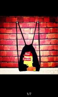 Supreme drawstring beg backpack simpson