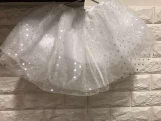 White Glittery Skirt