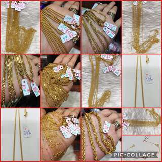 Gold Jewelries (18karat and 21karat)