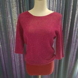 Gorgeous Miu Miu glittery pink and red sweater top