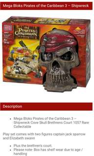 Pirates of the carribbean mega bloks lego rare collection