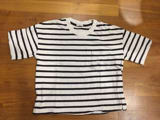 Oversize stripped top