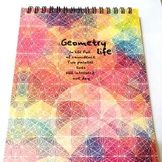 幾何人生線圈筆記本