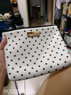 BKK polka dot sling bag
