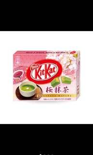 全新品-KitKat櫻抹茶口味-30入,日本限定,有效期限-2018/12;裡面有10小盒,1小盒有3包