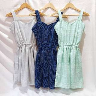 Cotton knit Heart Dress