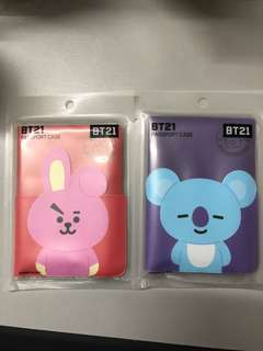 BT21 Passport Holders from Official Korea Line Store