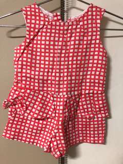 Gingersnaps Tiny Checkered Romper