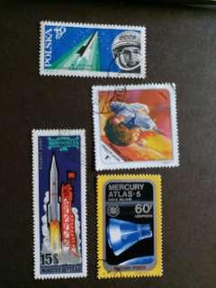 太空船已銷郵票