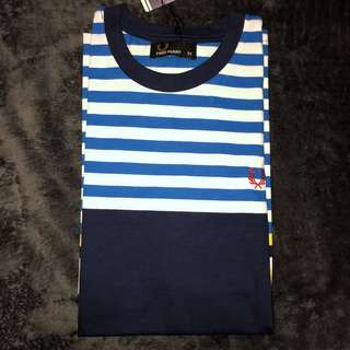 Casual shirt blue and yellow stripes