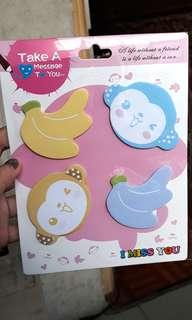 Monkey sticky notes set