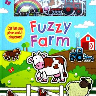 Buku Anak FUZZY FARM WITH 28 FELT PLAY PIECES AND 5 PLAYSCENES