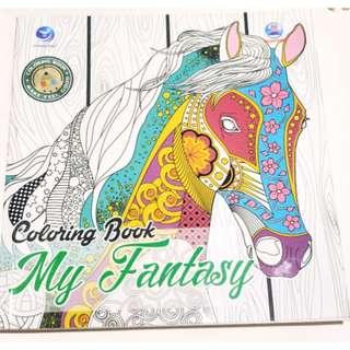 PRELOVED COLORING BOOK MY FANTASY