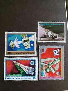 太空船已銷郵票 A001