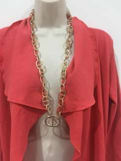 Gold chain link dress necklace