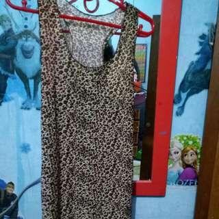 Atasan+tank top leopard