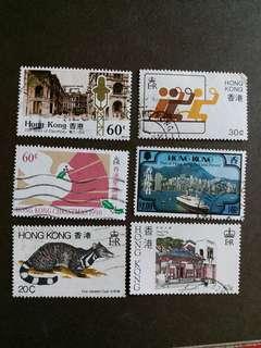香港郵票 回歸前已銷郵票 A002