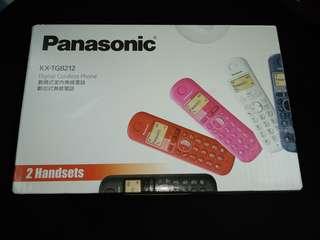 全新 Panasonic 室內無線電話 (子母機) 黑色