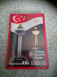 (V )BN Changi Control Tower 3D Paper Puzzle