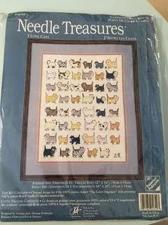 十字繡 - Cross stitch 手作材料包 I Love Cats