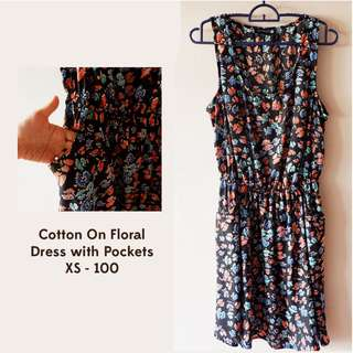 Cotton On Floral Dress with Pockets