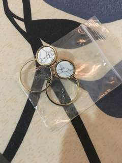 Gold-Marble earrings