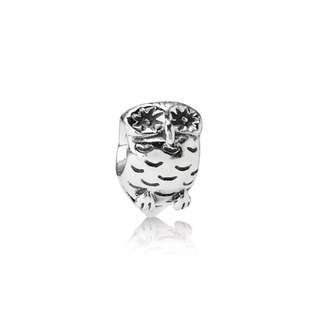 Pandora silver charm - owl