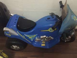Kids Electric Police Motorcycle with Siren sound