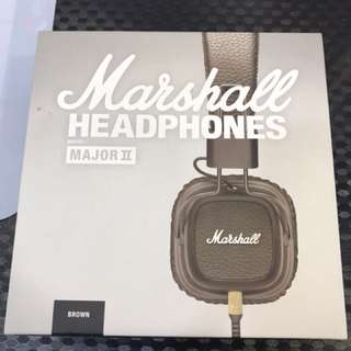 Marshall Headphones major II Brown