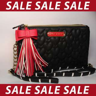 Betsey Johnson Quilted Body Bag
