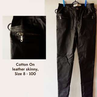 Cotton On Leather Skinny