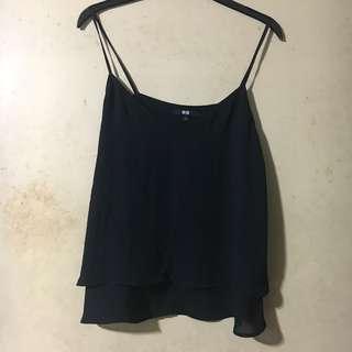 Uniqlo - Black Sleeveless Blouse - Brand New