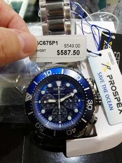 Seiko Prospex Save The Ocean Solar Chronograph SSC675P1 SSC675