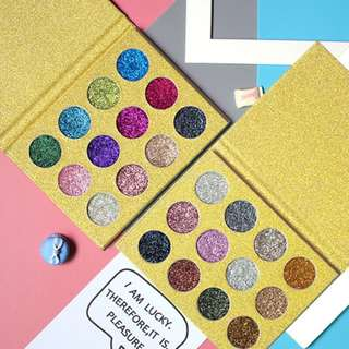 🦋Diamond Rainbow Cosmetic Pressed Shimmer Magnet Palette🦋