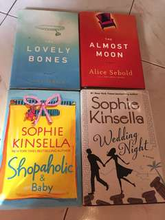 Alice Sebold and Sophie Kinsella Books