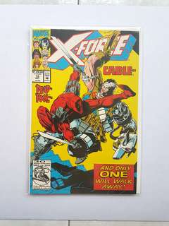 Marvel Comics X-force 15 Near Mint Condition Deadpool vs Cable  Movie